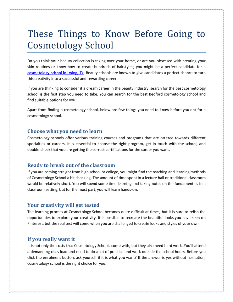 These Things to Know Before Going to Cosmetology School.docx